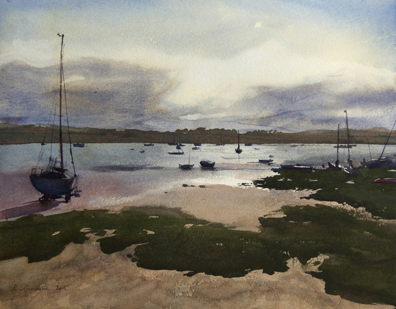 Moored Boats, Almouth, Northumberland 2015 18x22 approx